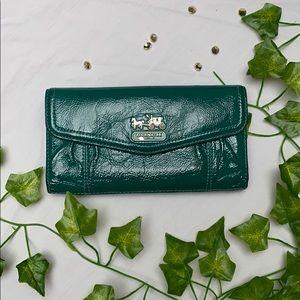 Coach green wallet